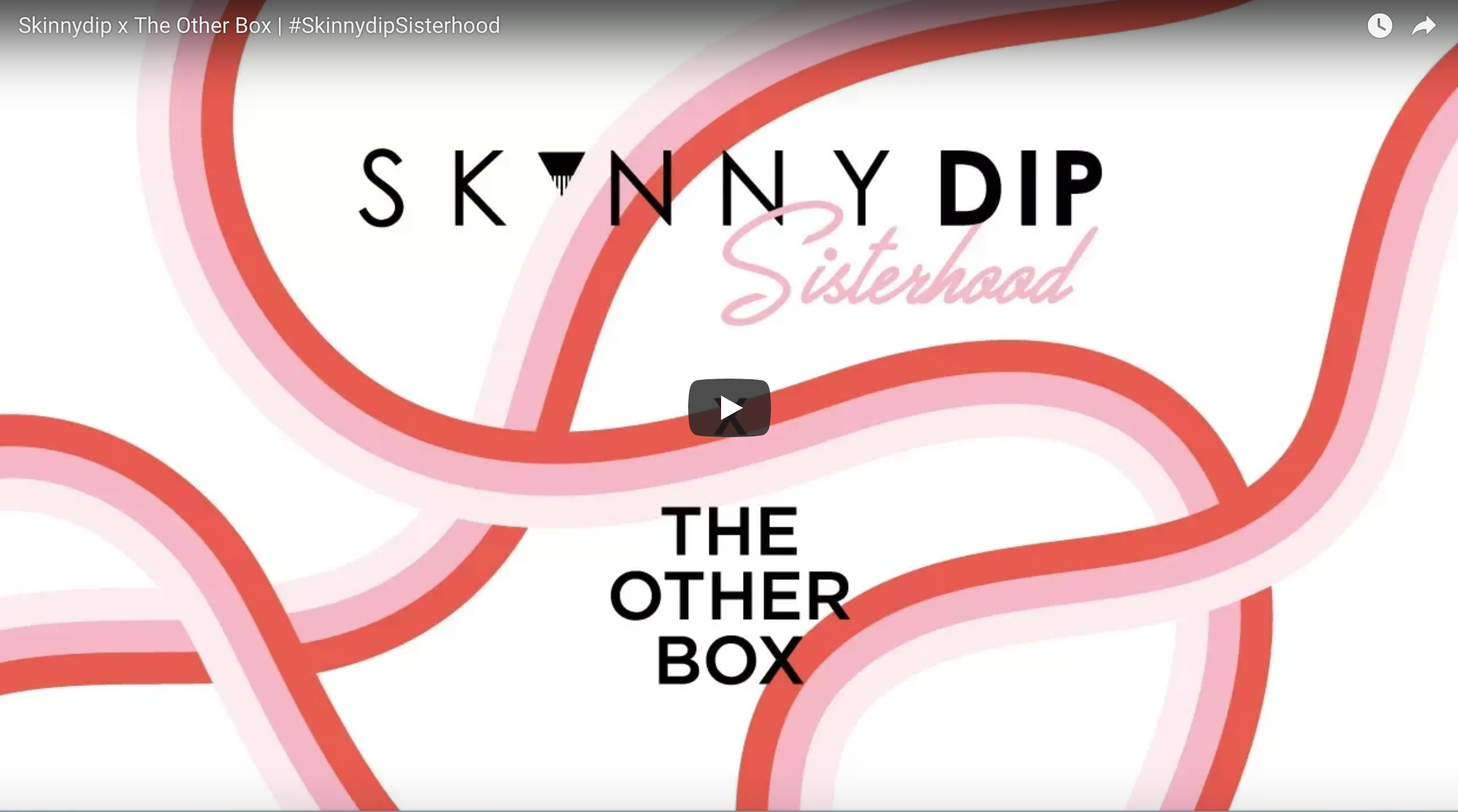 SKINNYDIP LONDON  PARTNERSHIP  For International Women's Day 2018, The Other Box joined up with Skinnydip London to celebrate womanhood, diversity and creativity and showcased 12 emerging artists of colour people need to know about!