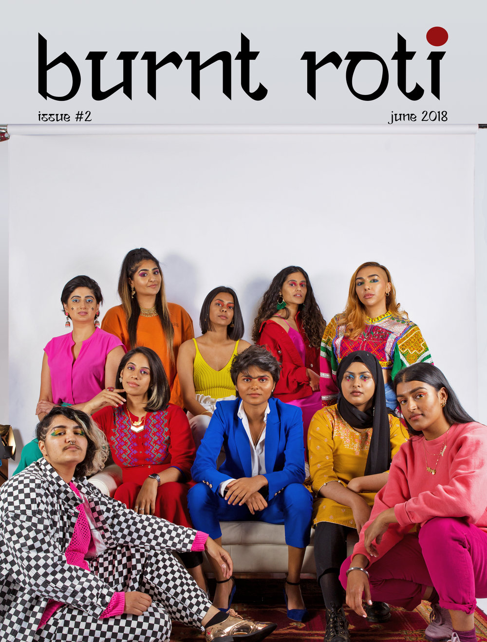 BURNT ROTI  MAGAZINE  Check out the latest issue of Burnt Roti magazine where both of our co-founders are cover stars and have an interview inside too! It also features interviews with Nish Kumar, Fran Lobo, Leo Kalyan, Natco and over 100 pages of art, photography, essays, interviews and an introduction to some of Burnt Roti's favourite South Asian female, queer and non binary creatives.