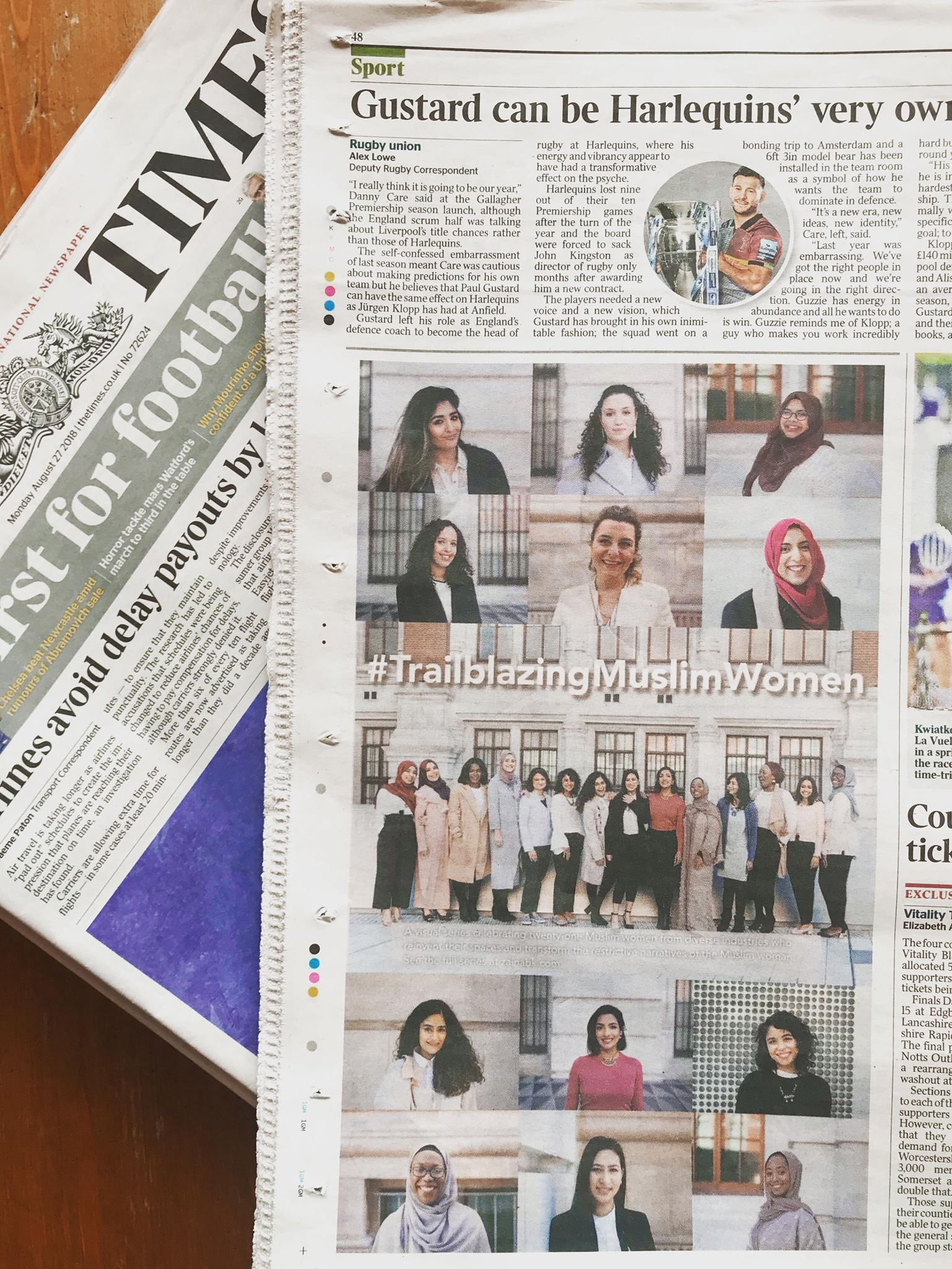 THE TIMES  FEATURE  For IWD, our cofounder Leyya took part in a photo series documenting trailblazing Muslim women that was recently featured in The Times. The project was curated by Zainab Khan and can be viewed below.