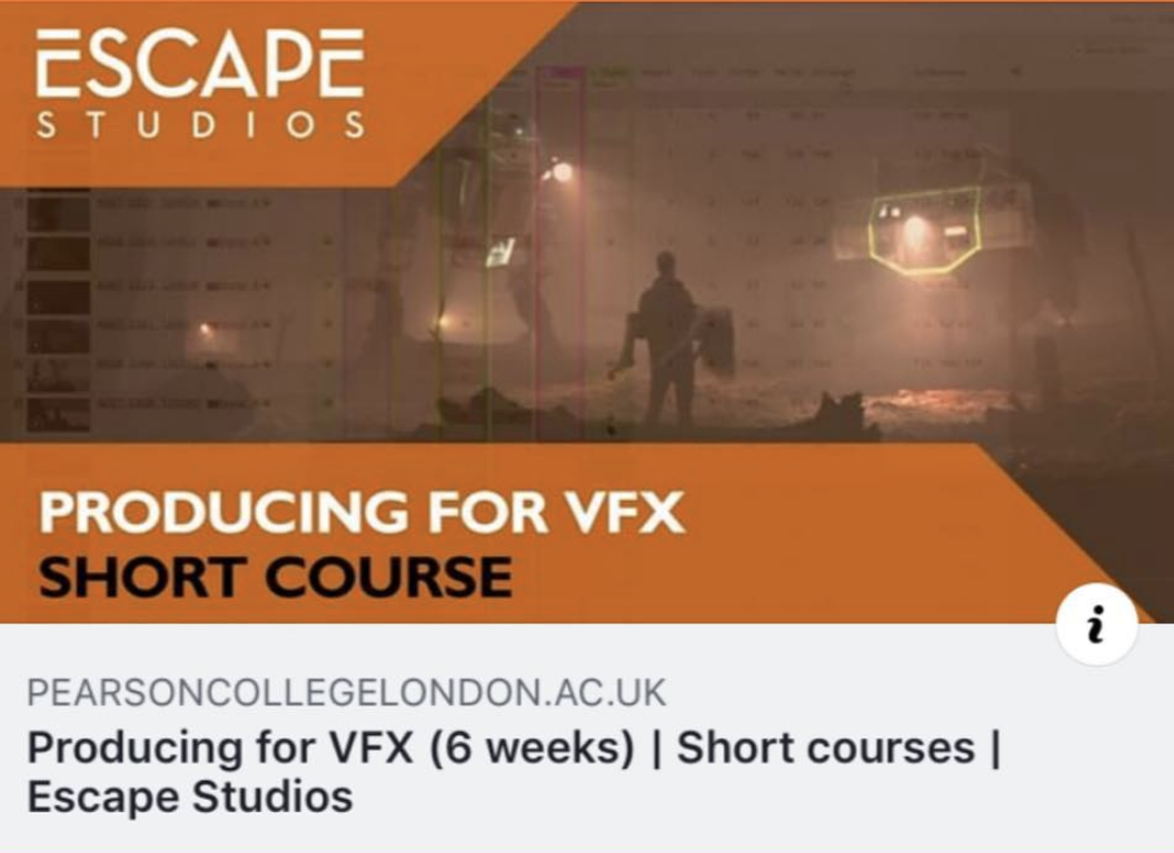 ACCESS VFX  COURSE  We've teamed up with Access VFX and Escape Studios to give 3 FREE places to this 6 week programme.  You can apply here.