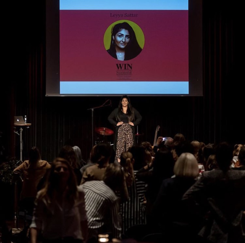 Switzerland Medienfrauen Schweiz  TALK  It was such to be invited to Zurich, Switzerland where Leyya did her first solo Keynote at the  #WINsummit  with to share her career journey, why she started The Other Box and what community means to her.