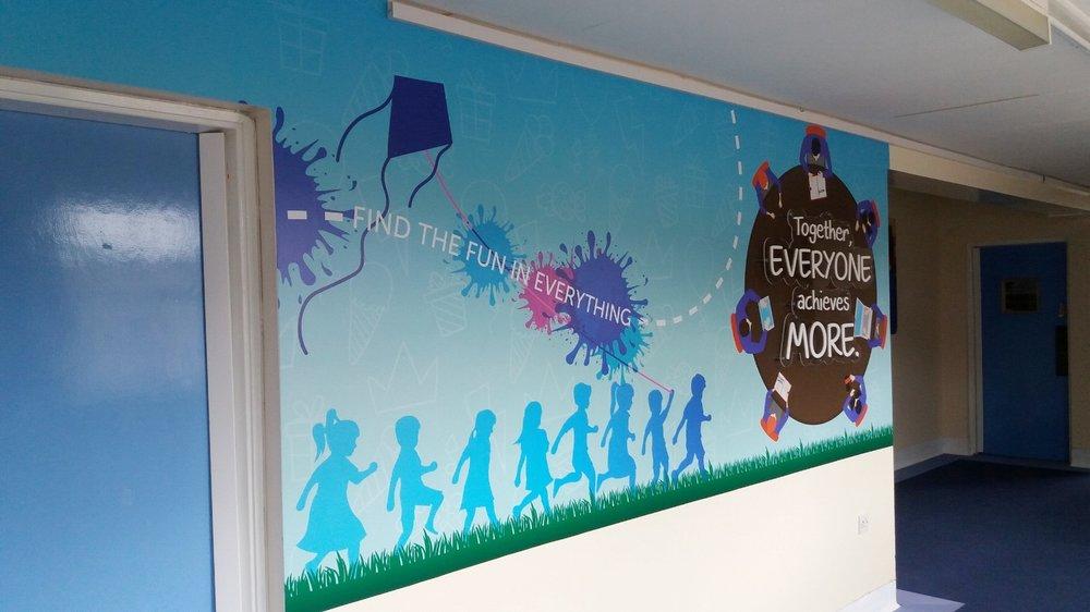 Kelloe Primary wall wrap