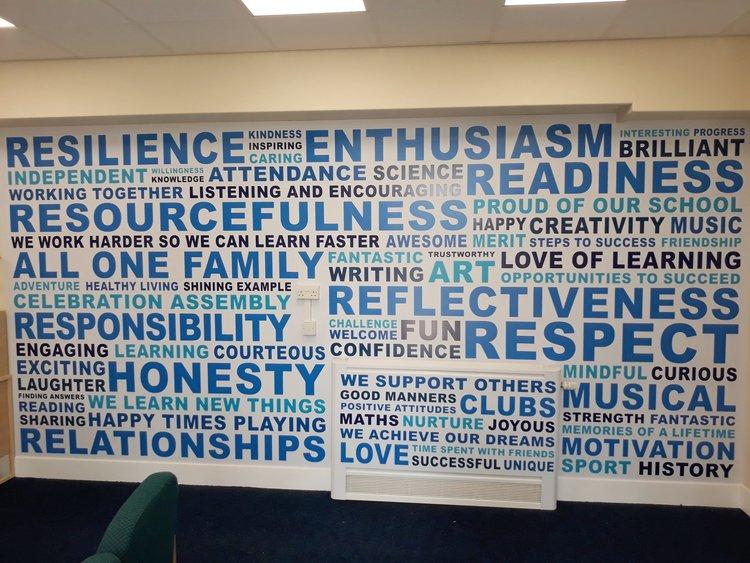 Kepier Primary Academy wall wrap