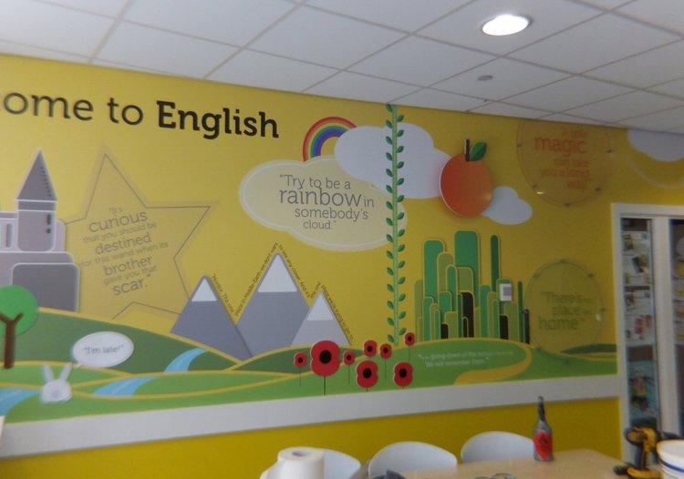 Shotton Hall School wall wrap