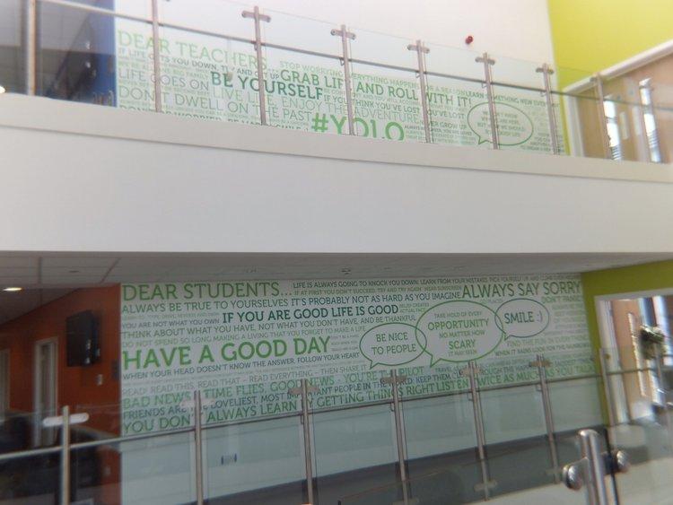 Shotton Hall School wall vinyl
