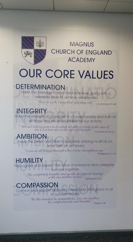 Core values wall wrap