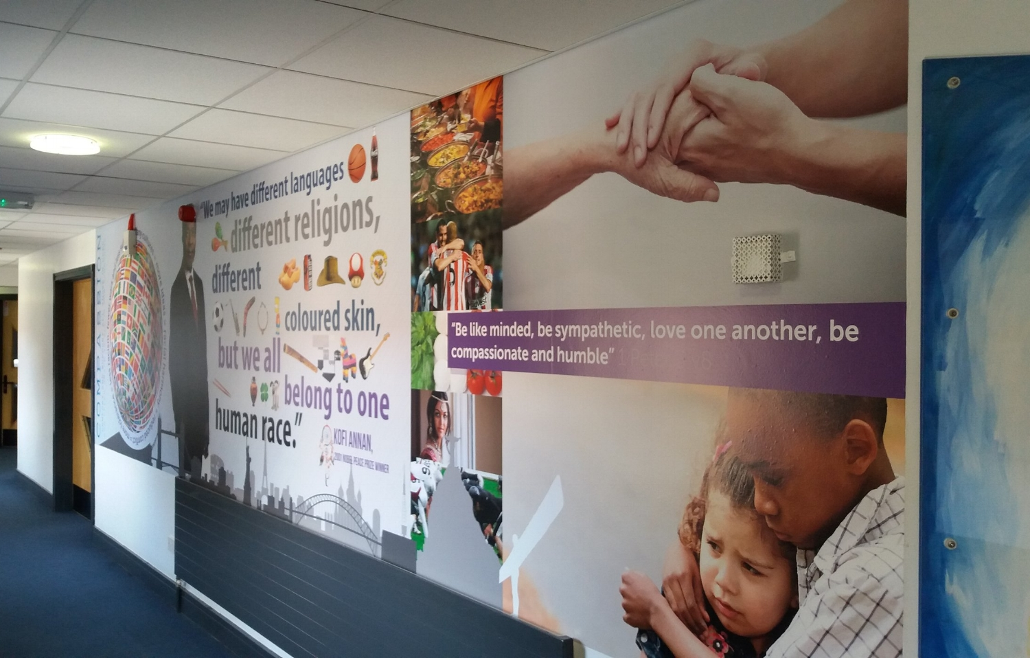 Compassion wall wrap