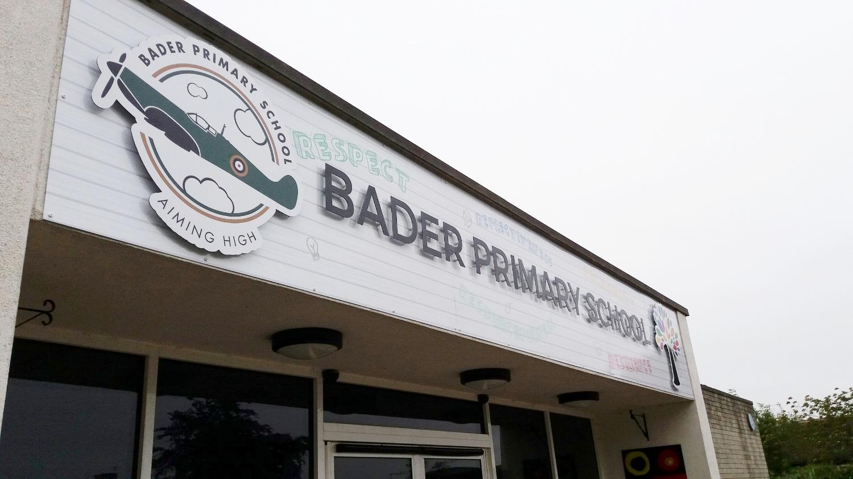 Bader Primary Dibond Fascia Sign