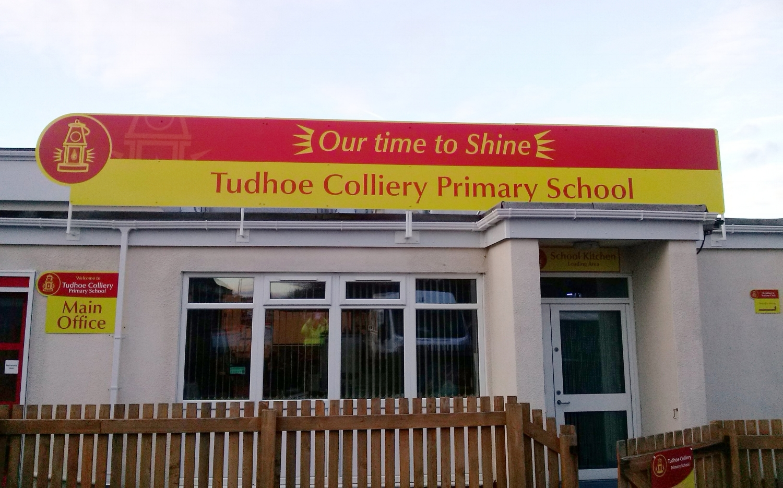 Tudhoe Primary Dibond Fascia Sign