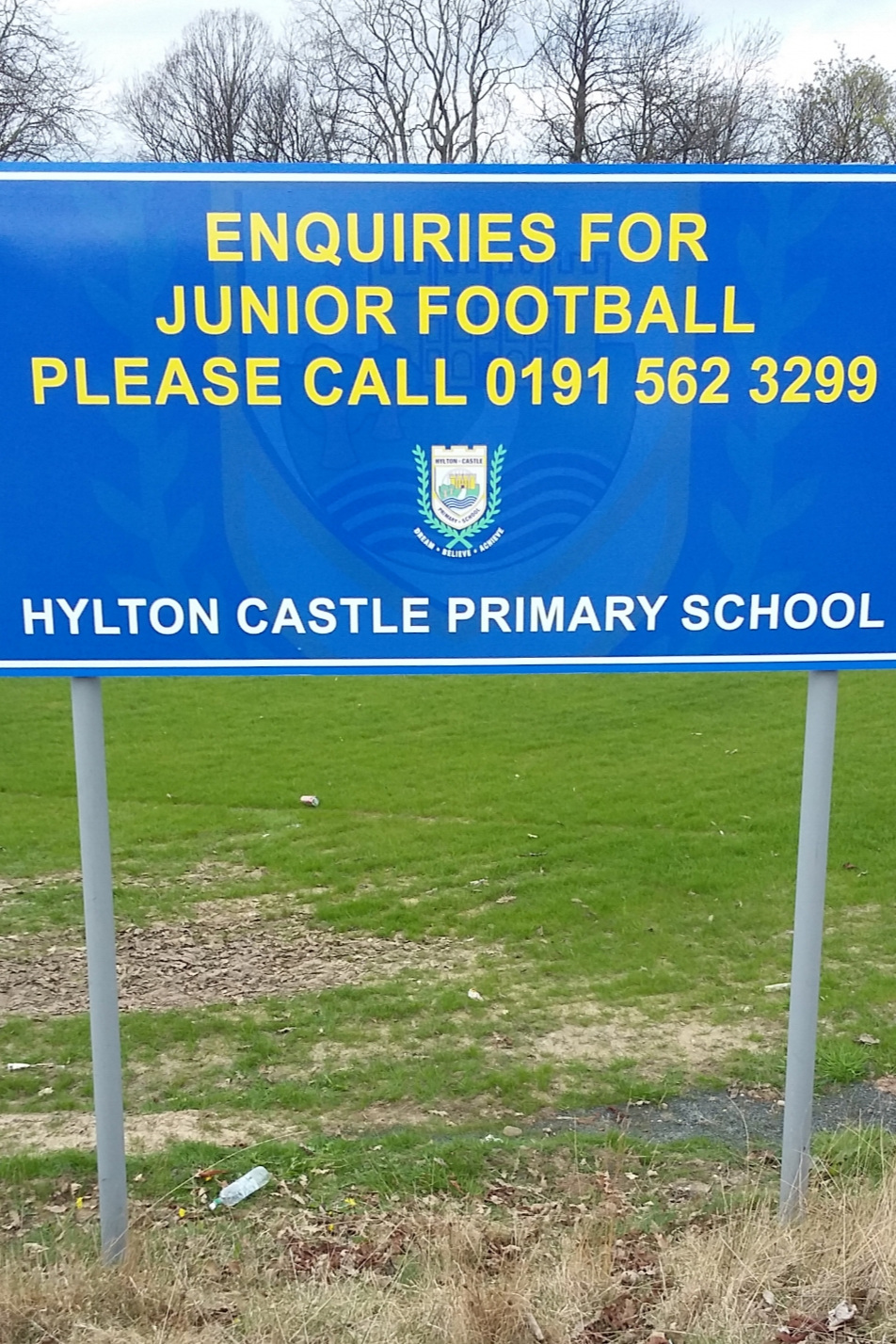 Hylton Castle  Primary Post Sign