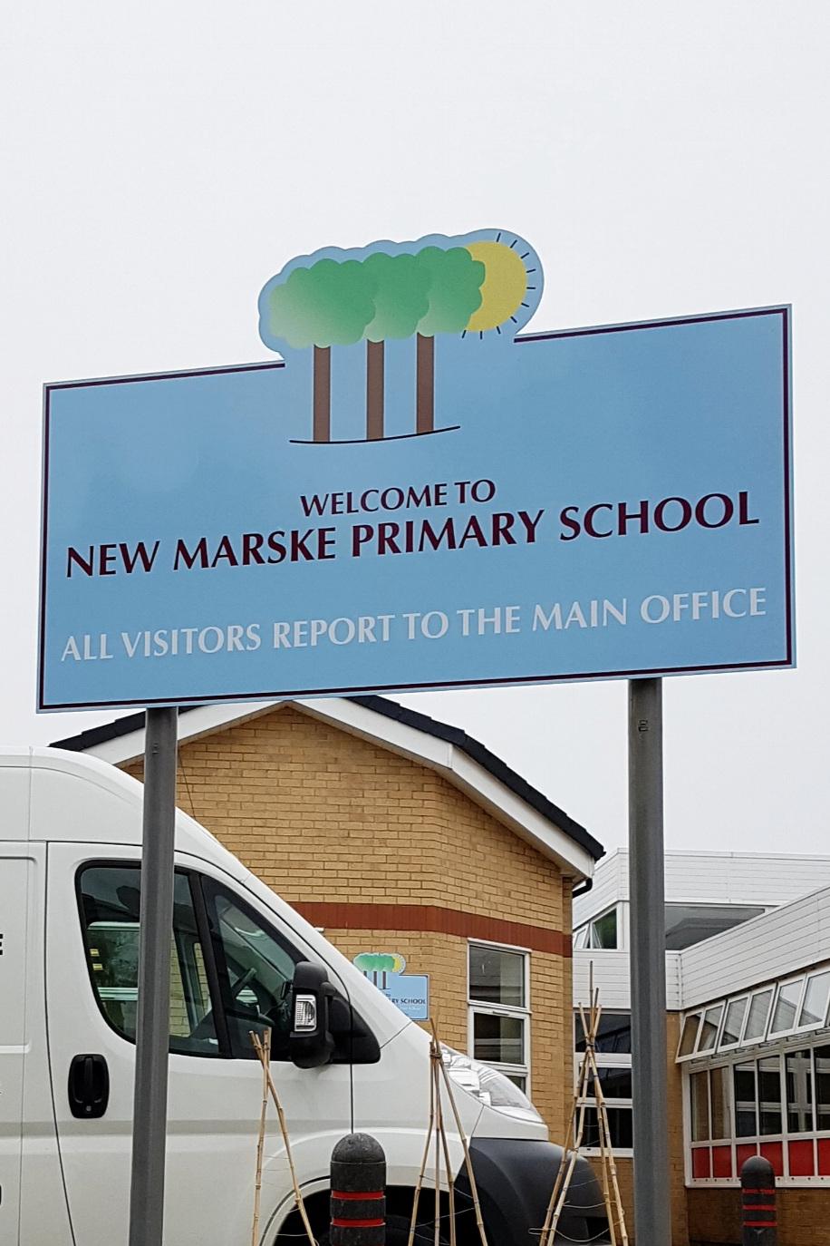 New Marske Primary Post Sign