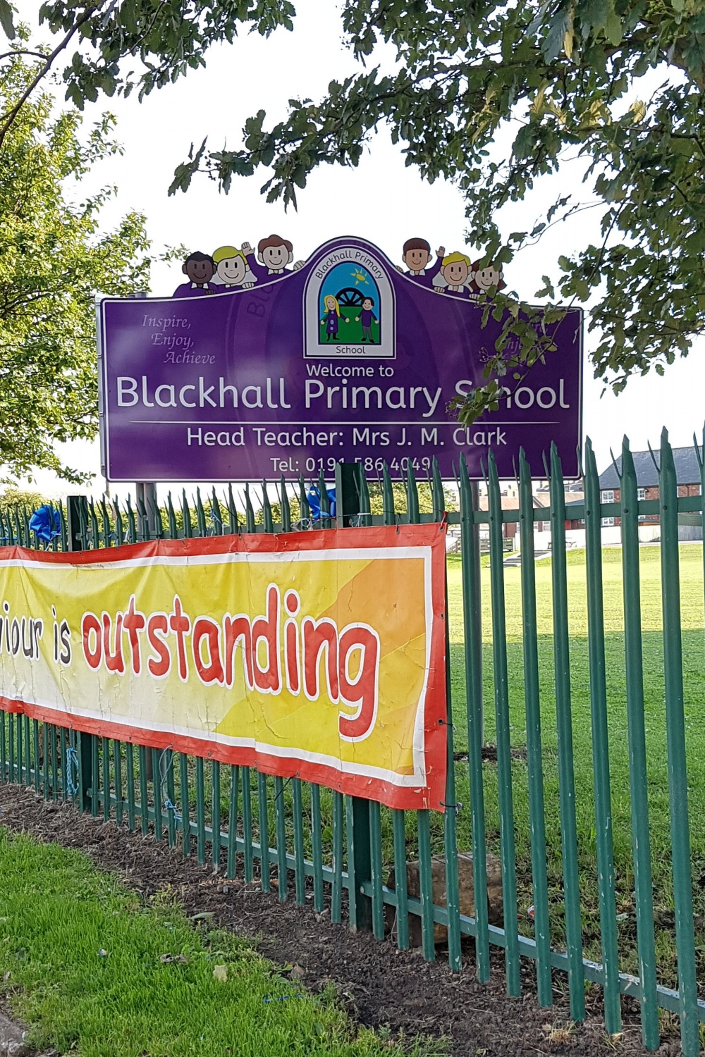 Blackhall Primary Post Sign
