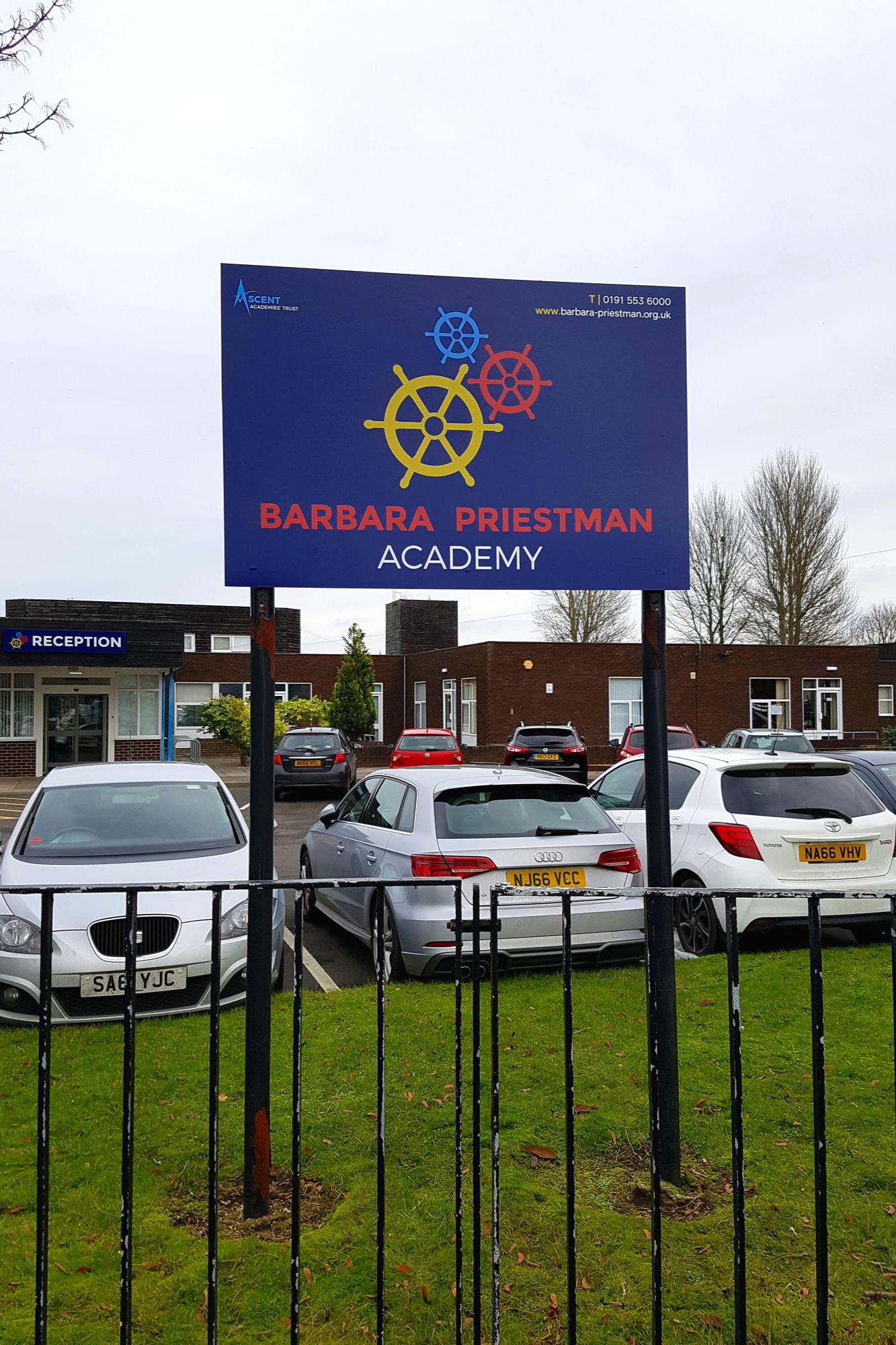 Barbara Priestman Post Sign