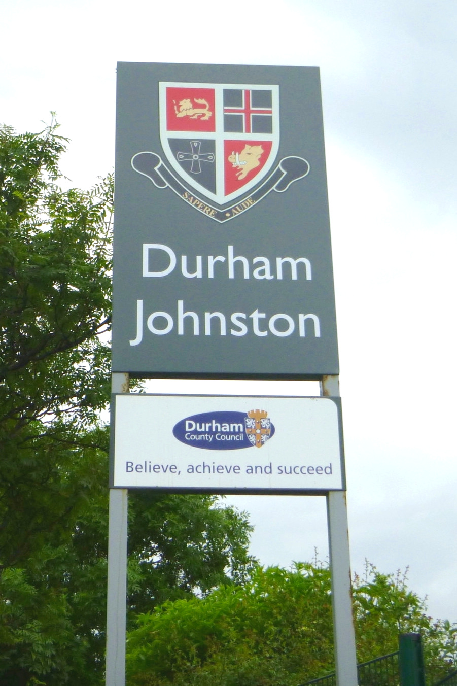 Durham Johston Post Sign