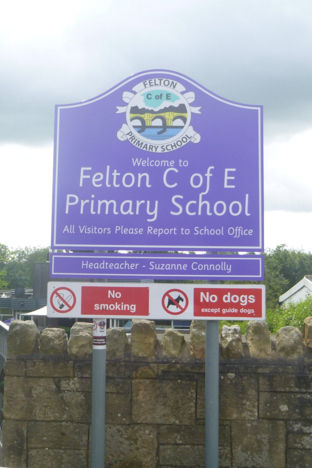 Felton C of E Primary Post Sign