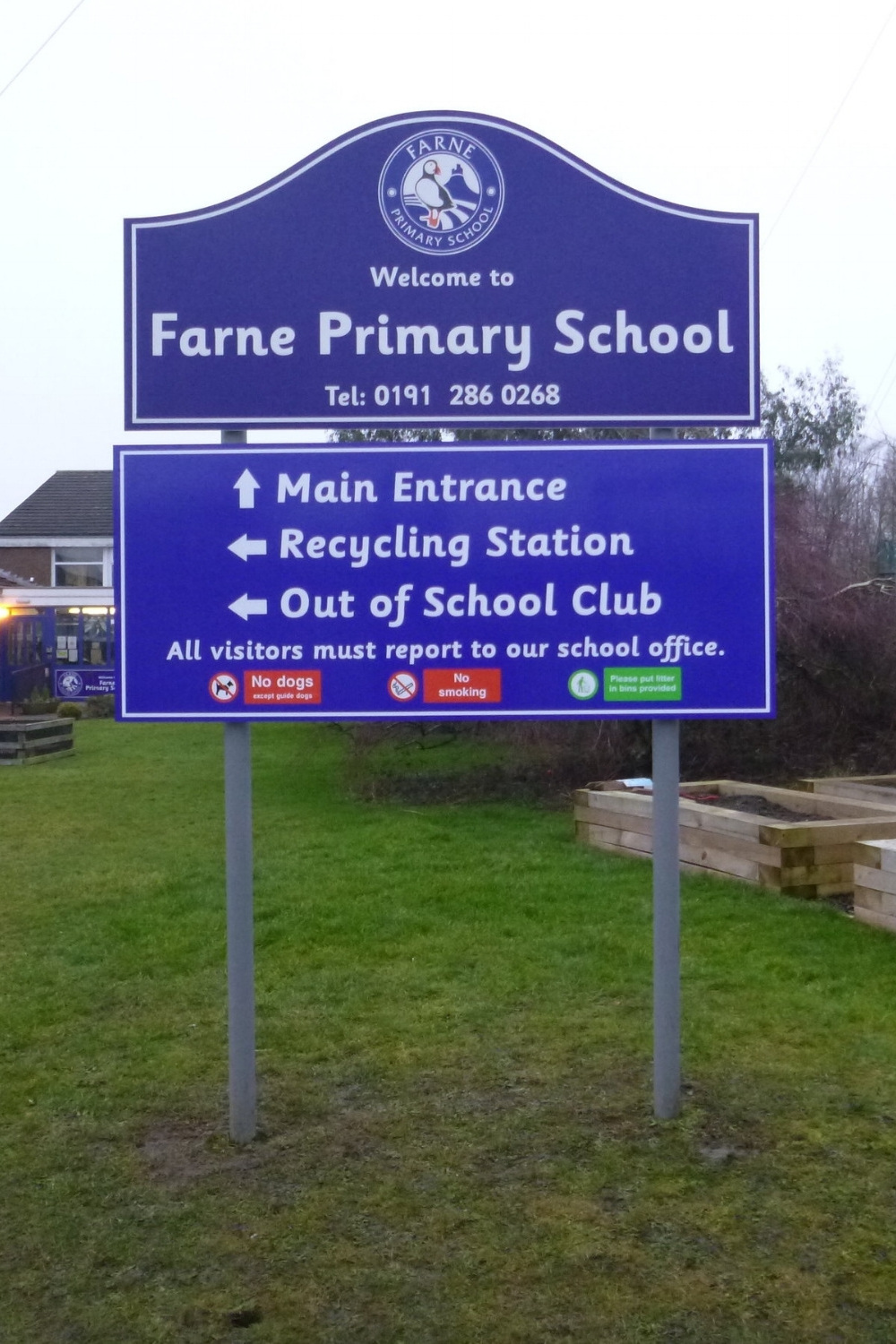 Ferne Primary Post Sign