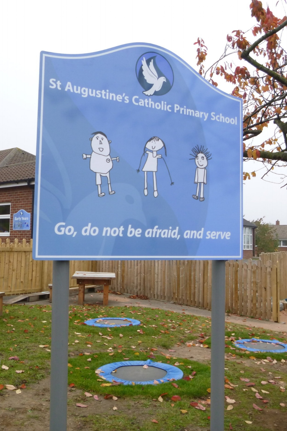 St Augustine's Post Sign