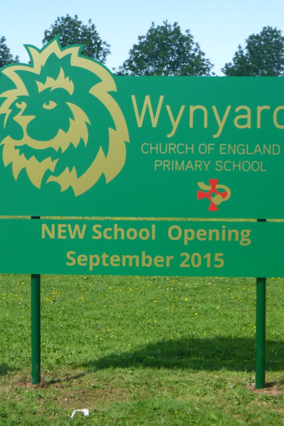 Wynyard Church of England Post Sign