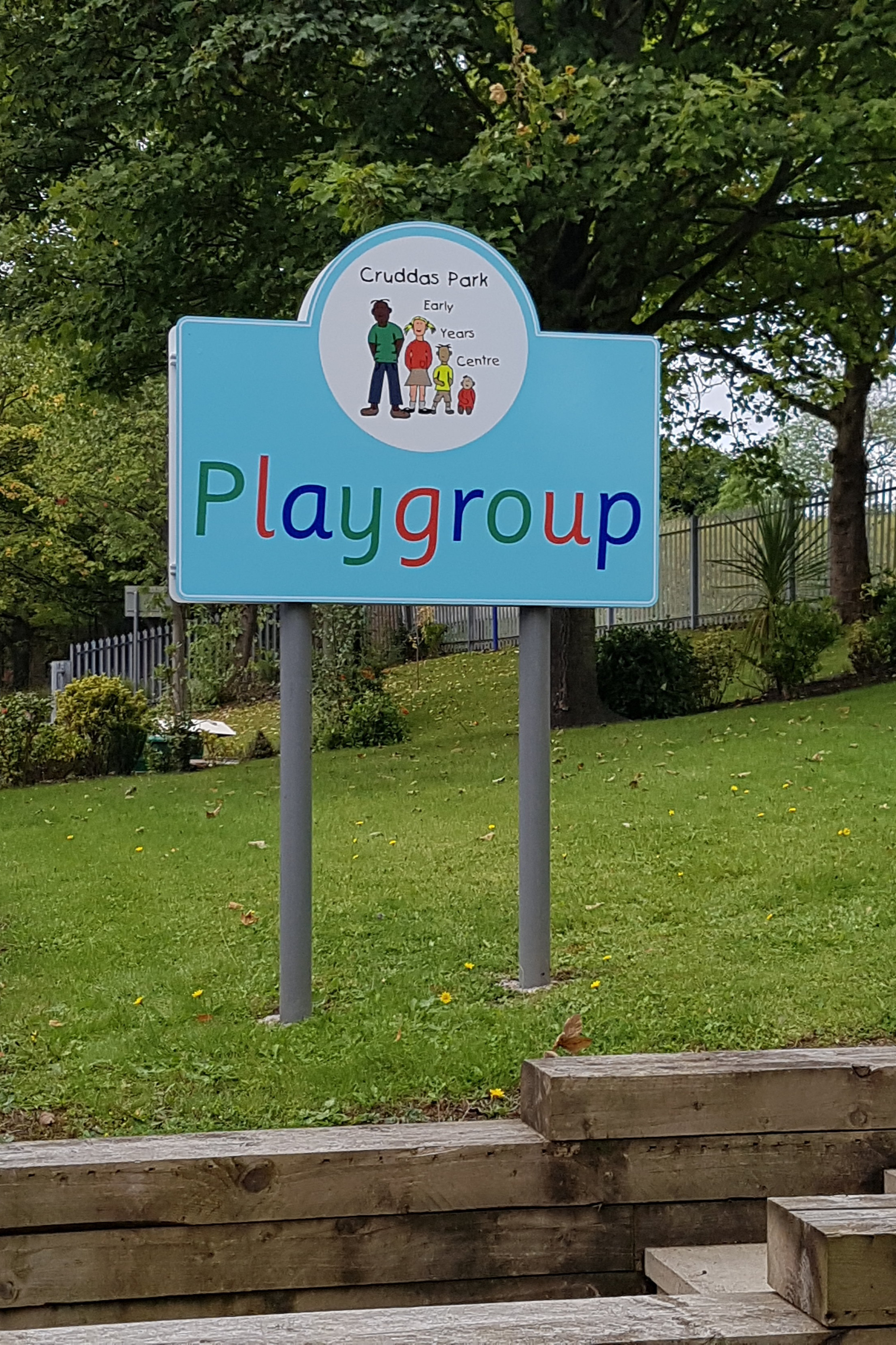 Playgroup Post Sign