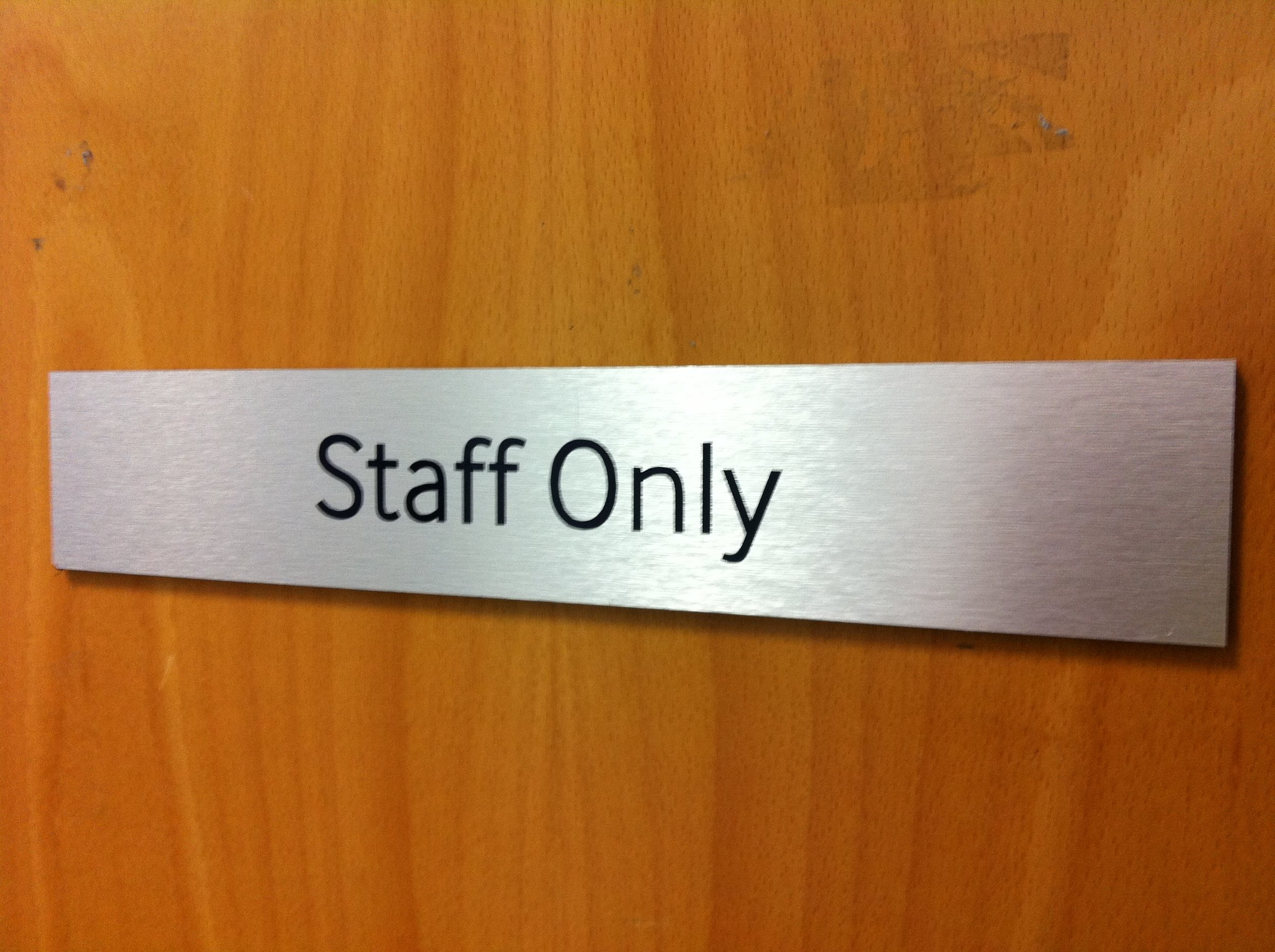 Internal Brushed Dibond Door Sign