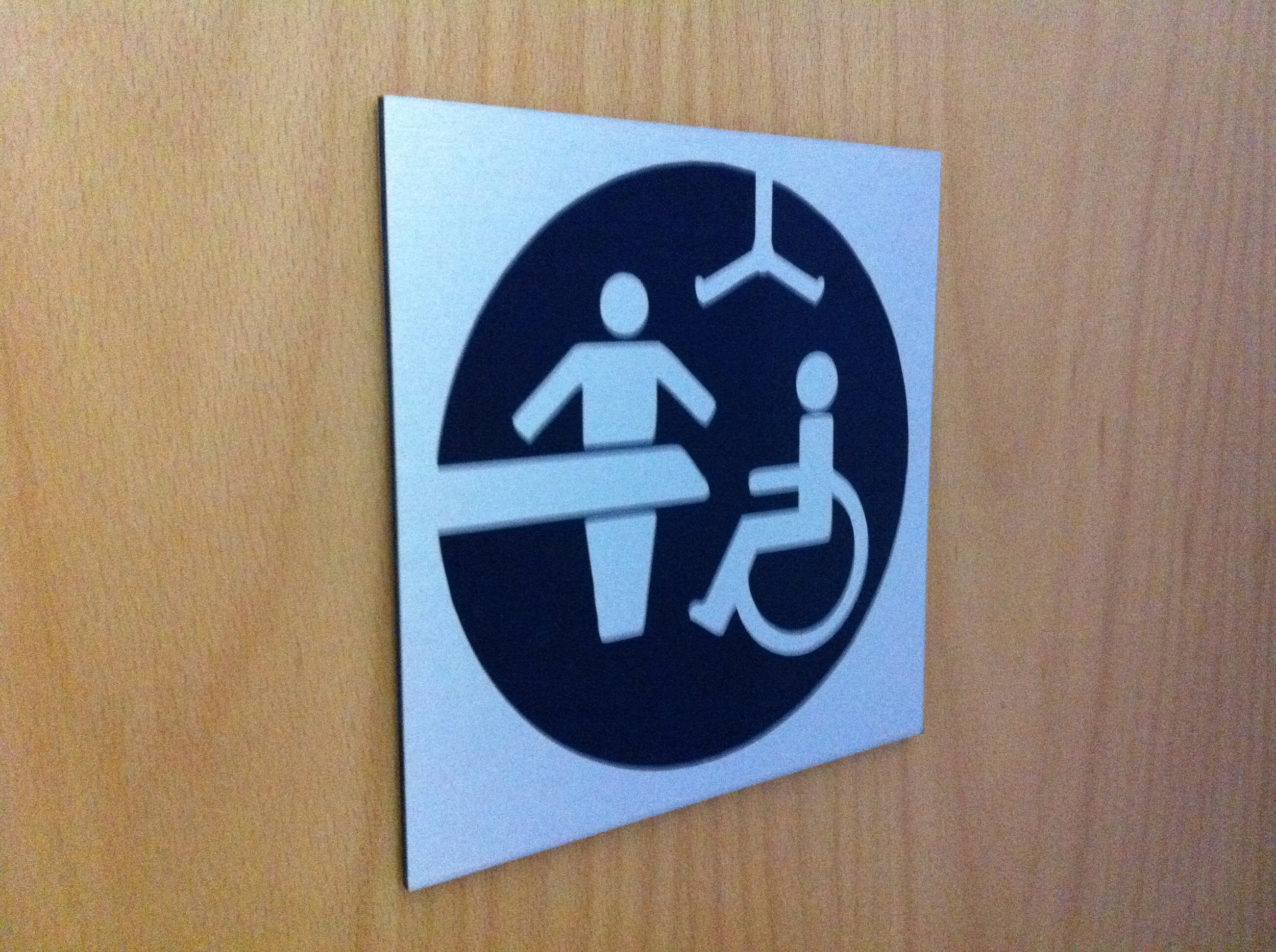 Internal WC Door Sign