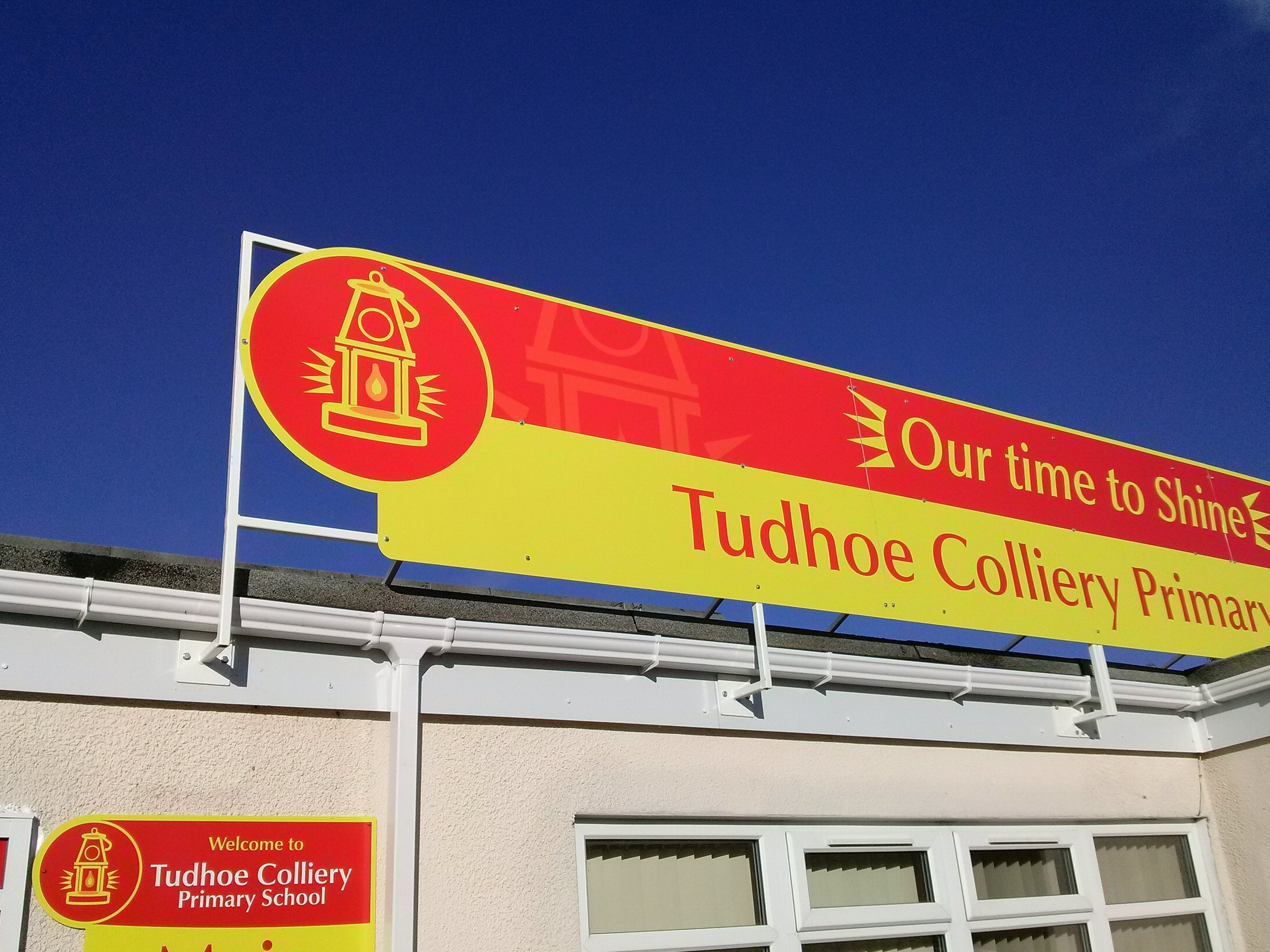 Tudhoe Colliery Dibond Built Up Fascia Sign