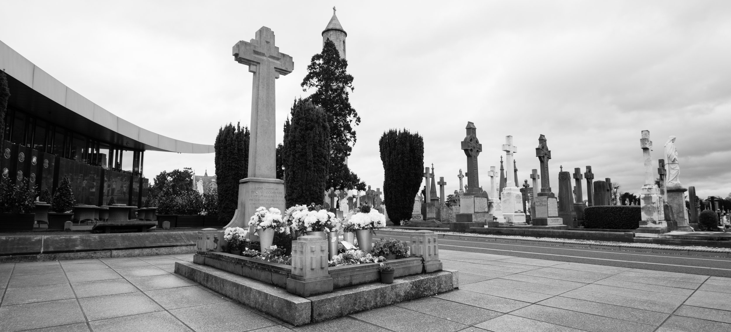 The most visited grave in Glasnevin. Michael Collins.