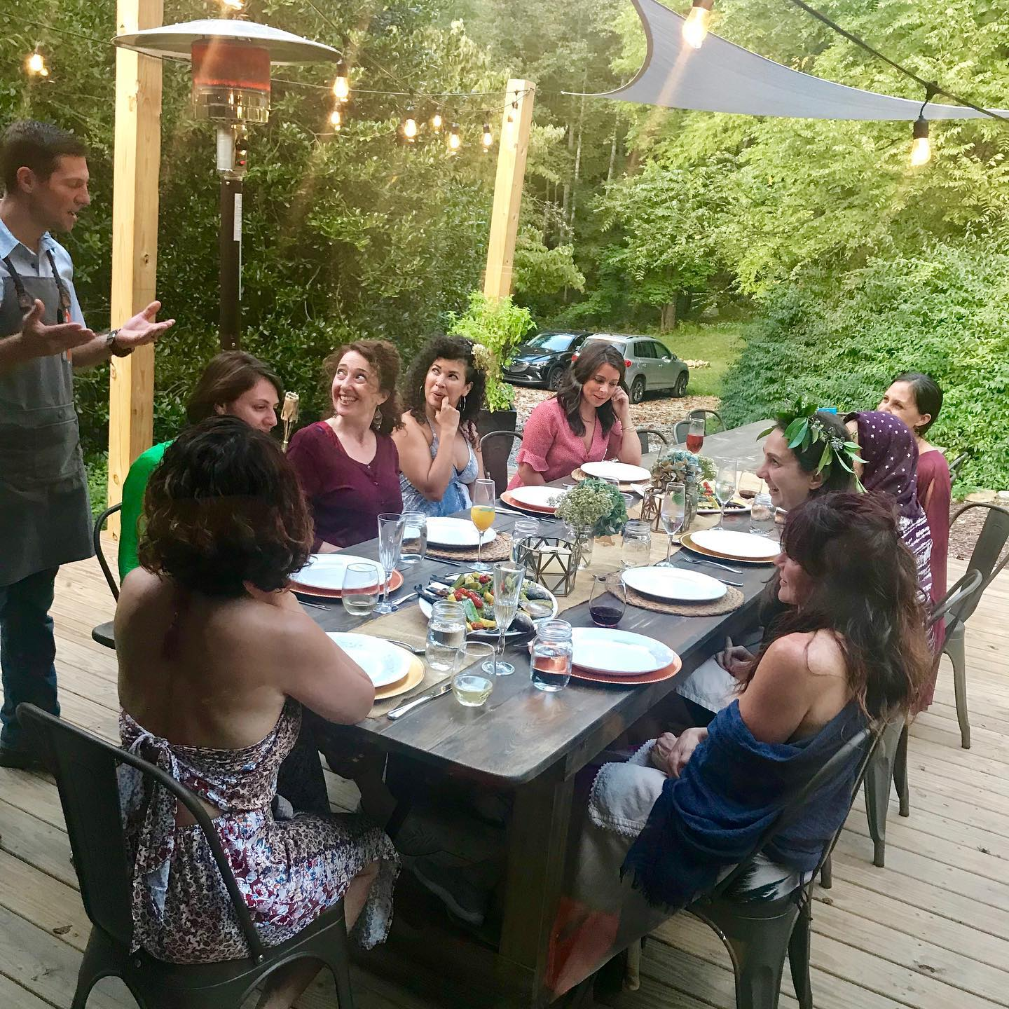 Meals at Bliss Farm and Retreat are nourishing and beautiful featuring organic, local foods.