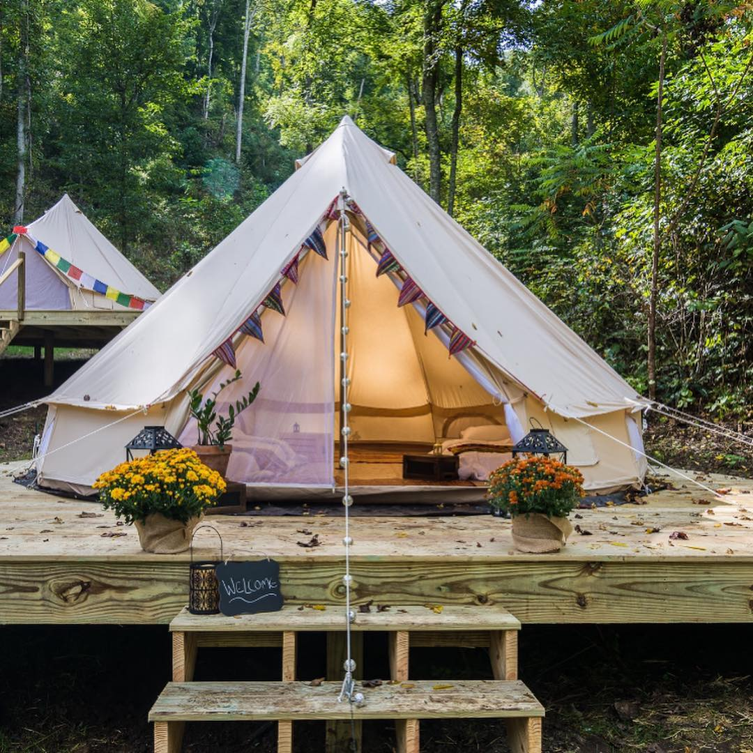 bell tent retreat accommodations
