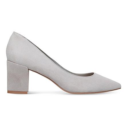 Court shoes are universal workwear. This grey pair from  Carvela  update the staple with a block heel and are comfortable as well as professional.