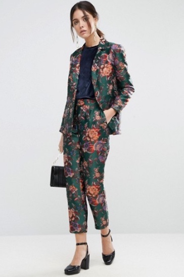 Polished Patterns  Matchy matchy patterns are a thing and not even in an ironic way. ASOS' high-fashion feeling floral jacquard blazer and trouser suit is our proof.   Jacket  - £60  Trousers  - £40