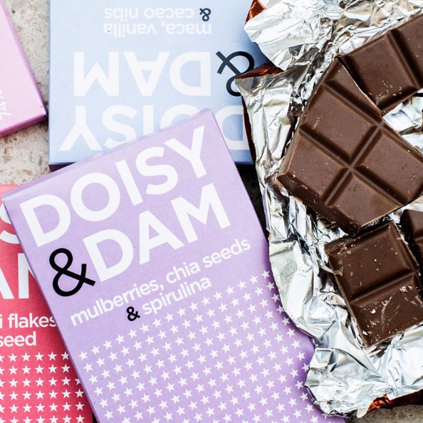 - Every bar of Doisy & Damchocolate contains at least 8% superfoods, and much more importantly, is superdelish. Their BIG big range of combos pair well with different types of coffee, which is exactly what you should speak to the environmentally-minded chocolatiers about this weekend. Burton-on-Trent based Oddfellowsare also on choccie.