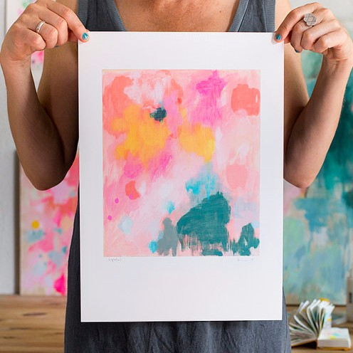 This powerful pop of  colour is a repro of an original acrylic on wood.