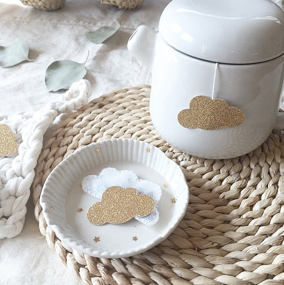 Handmade  teabags , that come in cloud, heart and star shapes. Obvs.
