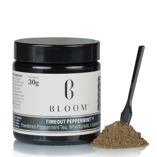 Take some time // - Give yourself a two minute tea ritual with Bloom's powered peppermint, wheatgrass, liquorice and fennel tea. It's caffeine free so won't leave you feeling wired, but is perfect for a natural, midday pick-me-up.Timeout Tea, Bloom — £10.99