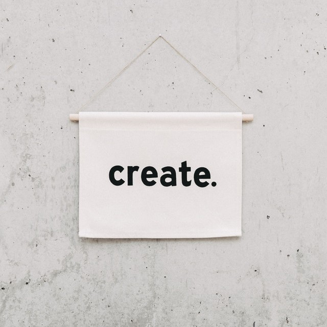 See, make, hang // - The Wandering Orion is a Barcelona-based company making wordy banners, like CREATE, one saying 'Try' and some slightly less inspirational. Like 'plant killer'. All their products are handmade using 100% cotton and woollen felt. It'd make a cute, motivational addition to a home office.