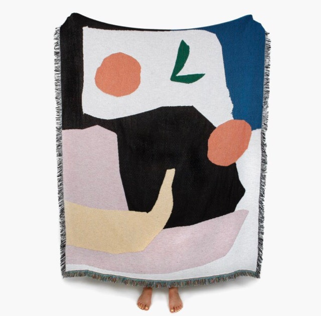Multi-tasker - Again, this throw by Affaire 46wasn't originally intended as a wall hanging. But you don't follow the rules — you're a maverick. Designed by UK artist Daniel Fletcher, hang the completely cotton beaut Mooney throw and marvel at its appeal for the rest of your days.