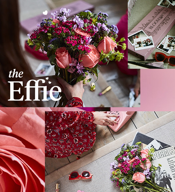 - Share some floral love with your bestie. Deliver the Effie bouquetto your #1 ami, full of roses, phlox and ageratum in pinks and purples. The beauty is in the letterbox packaging, meaning 'we missed you' courier notes are a thing of the past. And make it even sweeter with 14% off any letterbox or hand-tied bouquets from Bloom & Wild with the code SMOKEY.