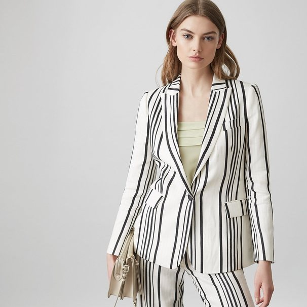 - Reiss£265For a more formal jacket, Reiss' Rodeo blazer is a tailored, statement piece. We always heartily encourage a match-matchy look, so opt for the wide-leg trousersin the same stripe for sartorial splendour. And if you're feeling really bold (and warm) there are matching shorts. But we'll probably pass on those.
