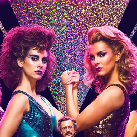 Glow  brings big hair, body slams and clothes-lining together in this empowering comedy about female wrestling. Season two starts June 29.