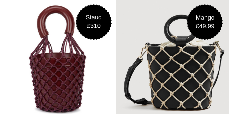 Bucket bags - Last summer it was the Cult Gaia clutch bag that you couldn't avoid seeing on every other fashion influencer's Insta account. Now it's the netted bucket bag, and to be honest we're ready to jump on this trend, like, right now. But if by November, it's more common than avocado smash, we might be regretting splurging on the big bucks Staud version. Mango's take is just as cute and much more purse-friendly.