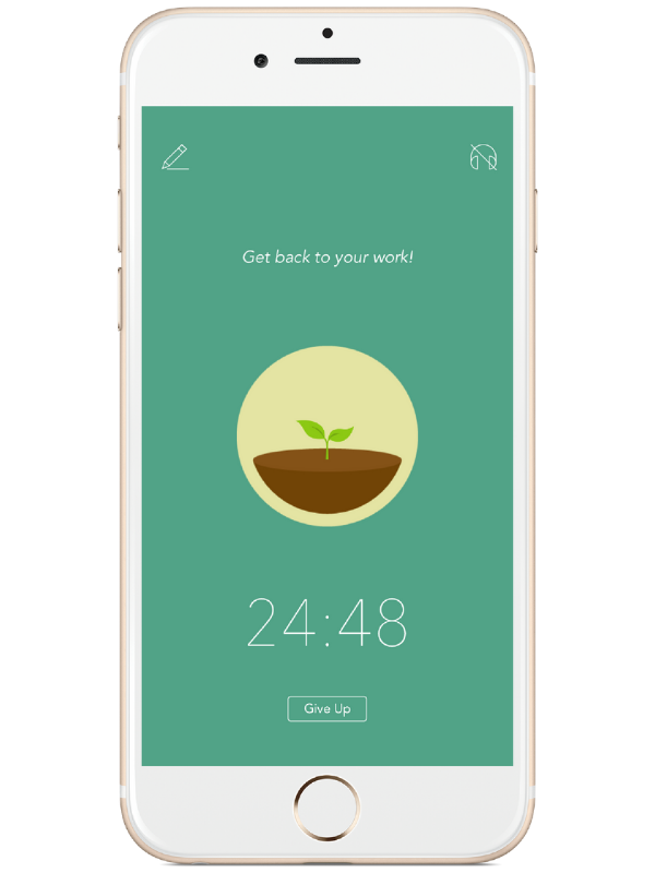 And what if you need some phone-free time to get those offline tasks sorted? Earn credits for not picking up your phone while getting sh*t done and  Forest  plants actual trees.