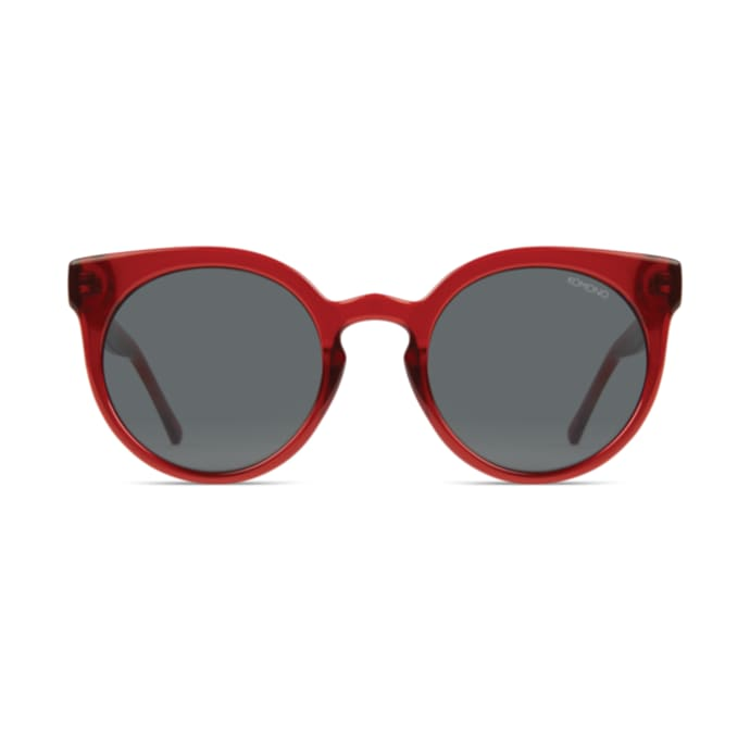 How about a subtle cat eye in ruby red from  Komono  for £49.99?