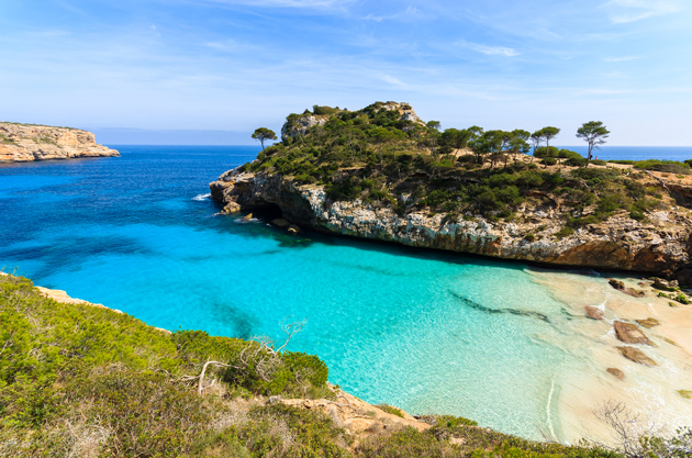 Best for beaut beaches:      Mallorca    There are 262 sandy stretches on the island. Probably enough for a different beach every day of your mini-break then.  Get there with:     Jet2.com    ,     Ryanair    ,     Thomas Cook