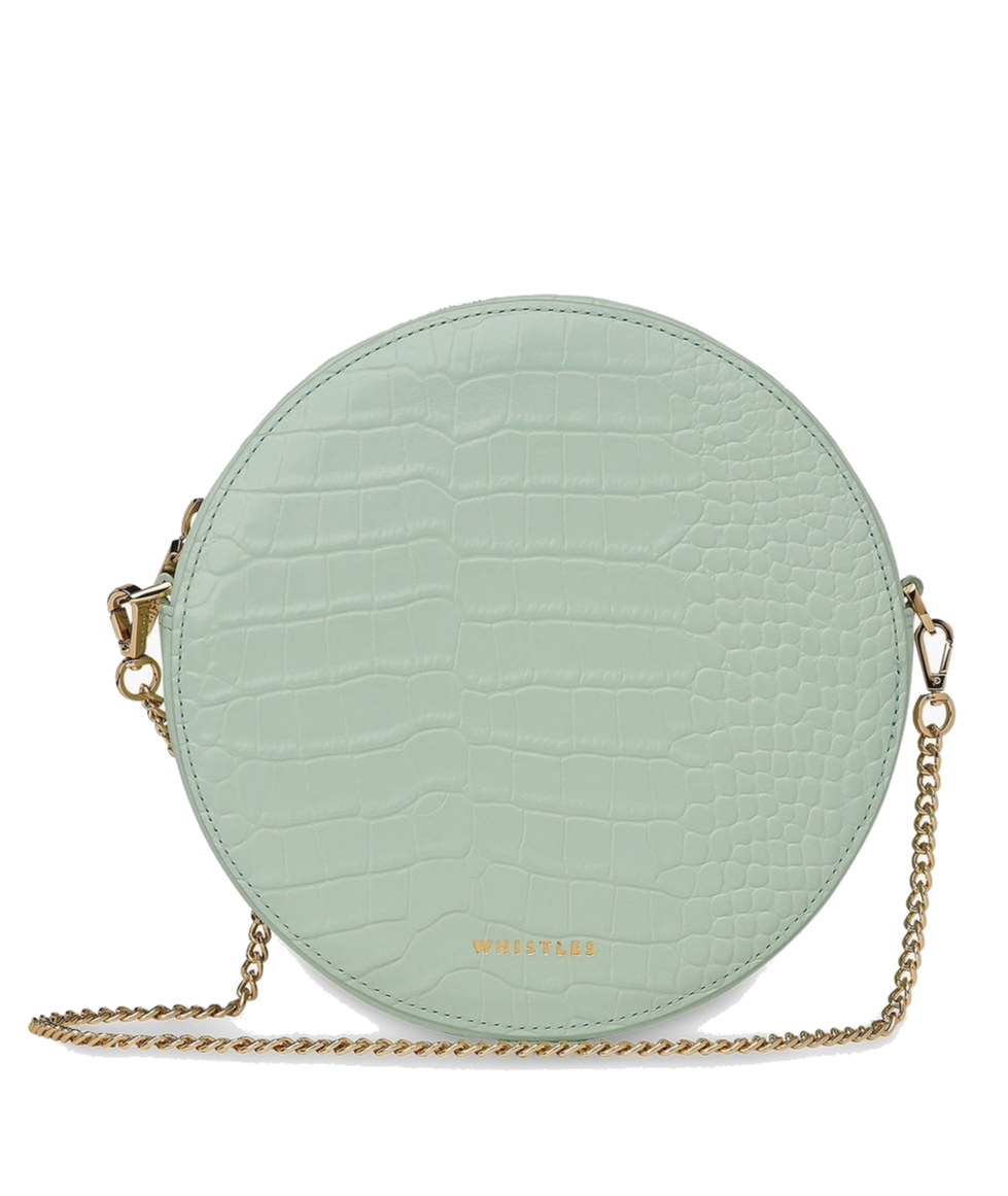 Whistles   pale green bag