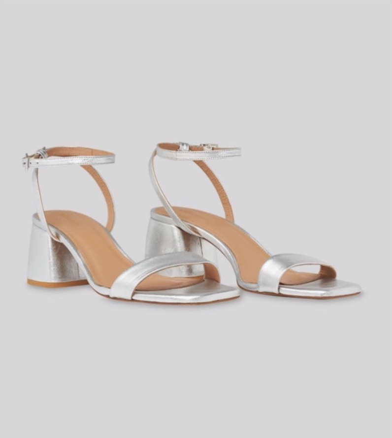 Whistles   silver sandals