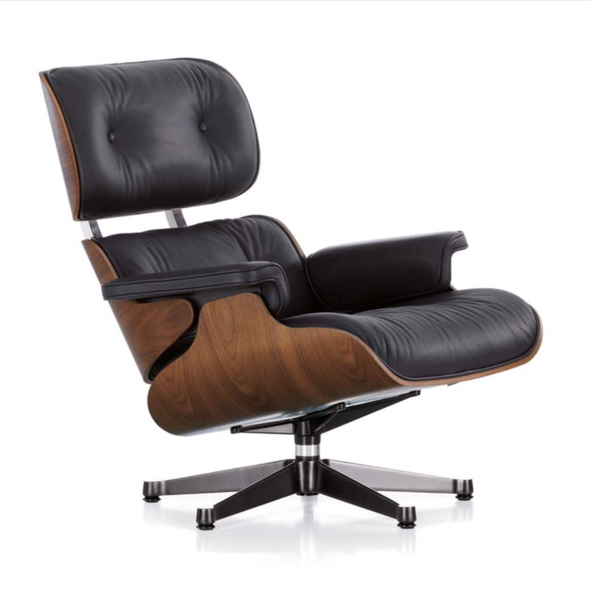 If you don't already, get to know the Eames  Lounge  chair. It's been oft-replicated and has had more than a few film   cameos  . It's basically a celebrity in the furniture world.