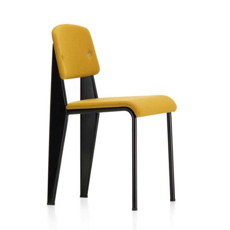 Jean Prouvé thought about chairs and weight distribution in 1939 so we don't have to. His  Standard  chair bears the stress on the back legs, where the weight is. Thx Jean.
