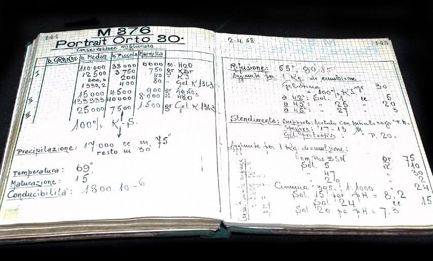 The handwritten formula for P30 black and white film (photo courtesy of FILM Ferrania)