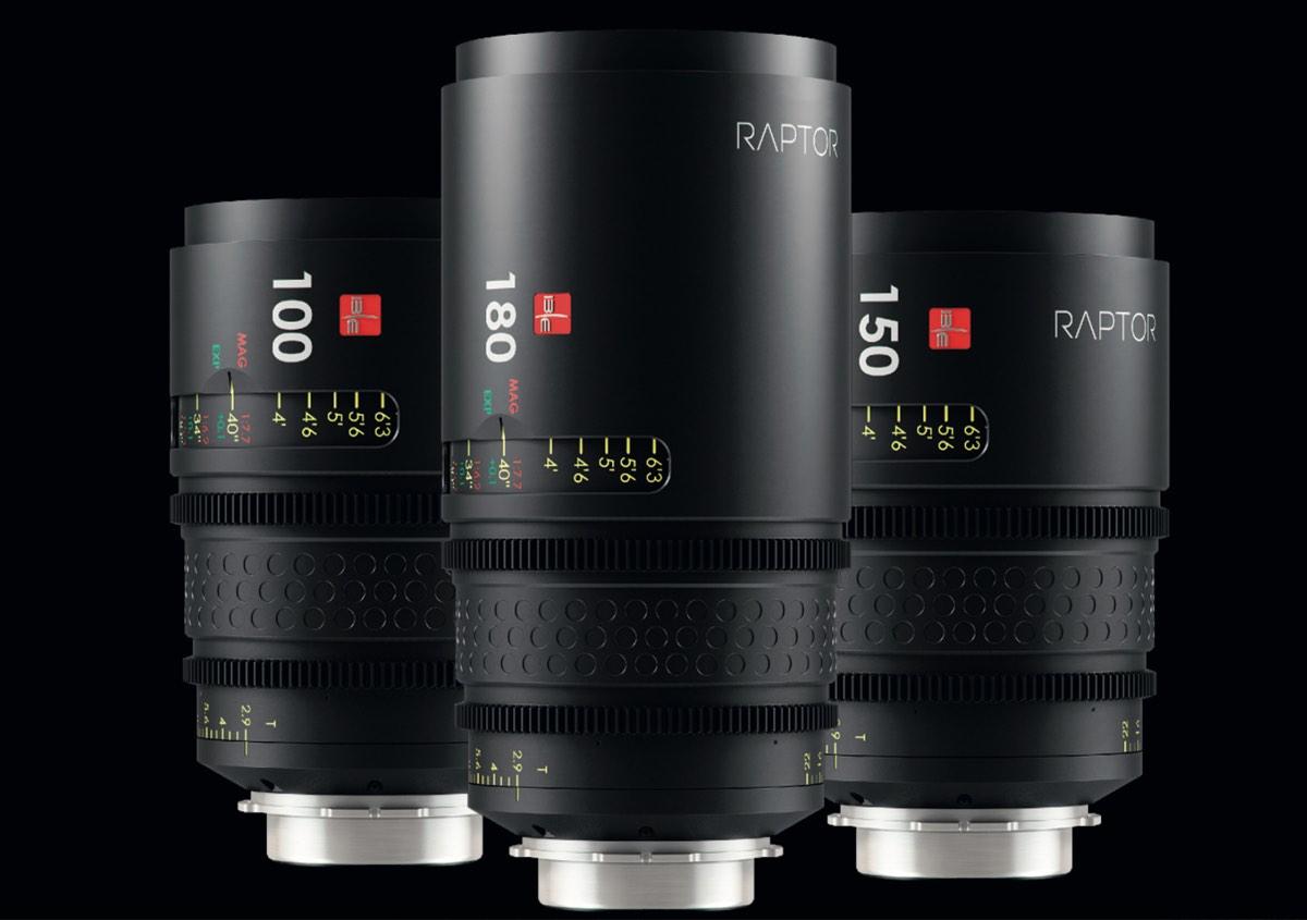 IBE/Optics New Raptor Lenses for full frame cinema cameras